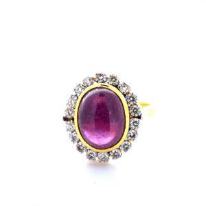 Diamond with Colored Stone