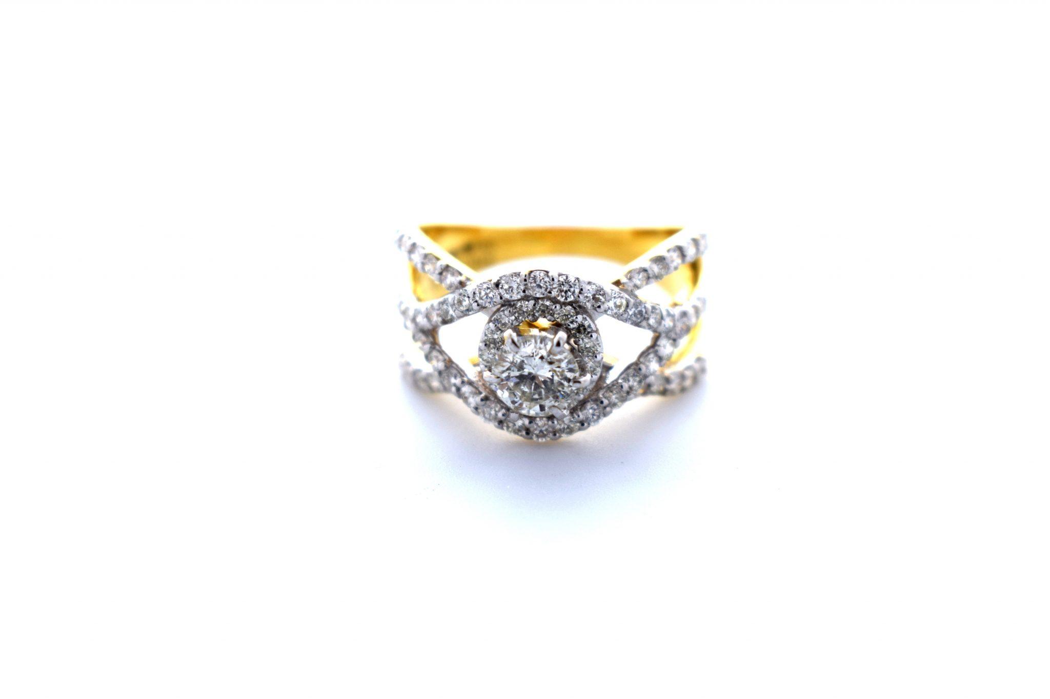 Ring with Single Diamond