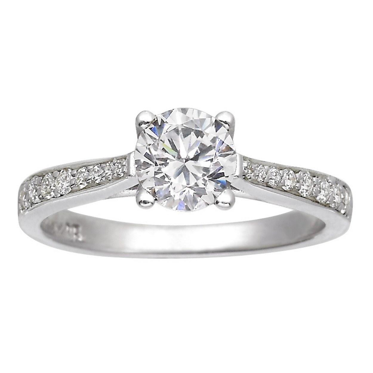 Single Diamond Ring Princess Style